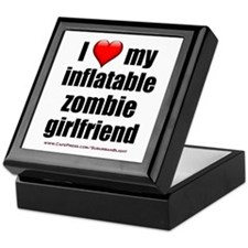 """Love My Inflatable Zombie GF"" Keepsake Box"