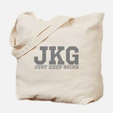 Just Keep Going Gray Tote Bag