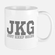 Just Keep Going Gray Mugs