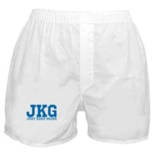 Just Keep Going Blue Boxer Shorts