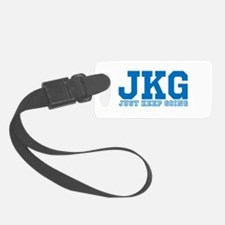 Just Keep Going Blue Luggage Tag