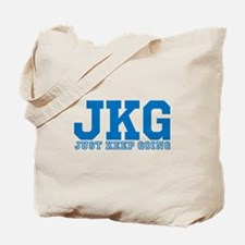 Just Keep Going Blue Tote Bag