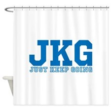 Just Keep Going Blue Shower Curtain