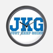 Just Keep Going Blue Wall Clock