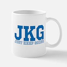 Just Keep Going Blue Mugs