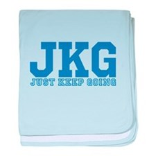 Just Keep Going Blue baby blanket