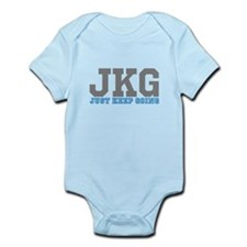 Just Keep Going Gray Blue Body Suit