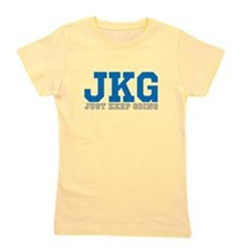 Just Keep Going Gray Blue Girl's Tee