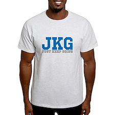 Just Keep Going Gray Blue T-Shirt