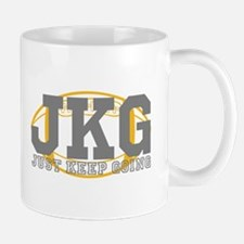 Just Keep Going Football Mugs