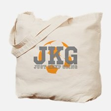 Just Keep Going Soccer Gray Tote Bag