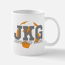 Just Keep Going Soccer Gray Mugs