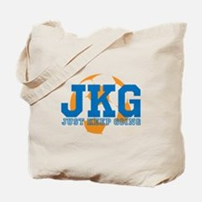 Just Keep Going Soccer Blue Tote Bag