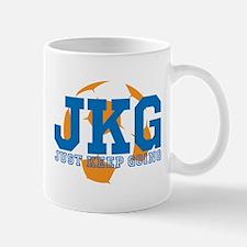 Just Keep Going Soccer Blue Mugs