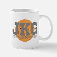 Just Keep Going Basketball Gray Mugs