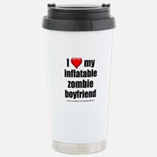 """Love My Inflatable Zombie BF"" Travel Mug"