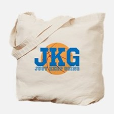 Just Keep Going Basketball Blue Tote Bag