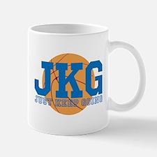 Just Keep Going Basketball Blue Mugs