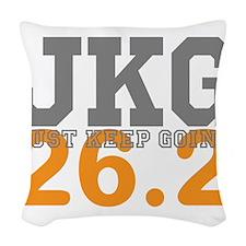 Just Keep Going 26.2 Woven Throw Pillow