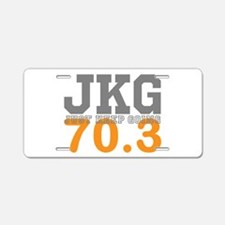 Just Keep Going 70.3 Aluminum License Plate