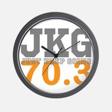Just Keep Going 70.3 Wall Clock