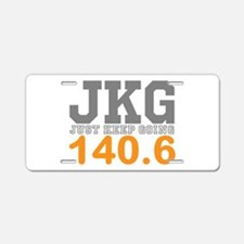 Just Keep Going 140.6 Aluminum License Plate