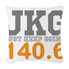 Just Keep Going 140.6 Woven Throw Pillow