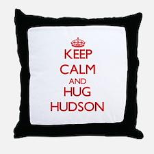 Keep calm and Hug Hudson Throw Pillow