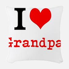 I Love Grandpa Woven Throw Pillow