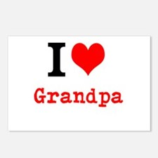 I Love Grandpa Postcards (Package of 8)
