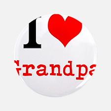 "I Love Grandpa 3.5"" Button (100 pack)"