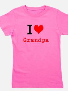 I Love Grandpa Girl's Tee