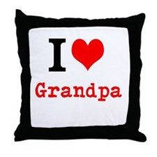 I Love Grandpa Throw Pillow