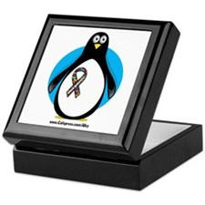 Autism Penguin Keepsake Box