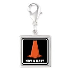 NOT A HAT! BLACK SIGN 1 Charms