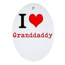 I Love Granddaddy Ornament (Oval)