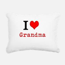 I Love Grandma Rectangular Canvas Pillow