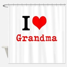 I Love Grandma Shower Curtain