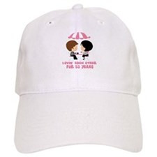 53rd Anniversary Paris Couple Baseball Cap