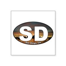San Diego Oval Sticker