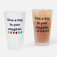 Amygdala hug -w Drinking Glass