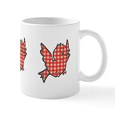 Red Gingham Bird Mug
