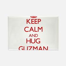 Keep calm and Hug Guzman Magnets