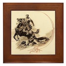Horseman Borzoi Framed Tile