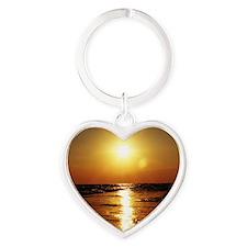 Sunset Heart Keychain