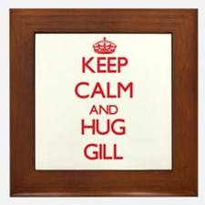 Keep calm and Hug Gill Framed Tile