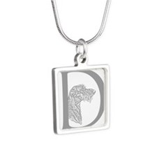 Scottish Deerhound Silver Square Necklace