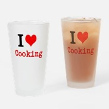 I Love Cooking Drinking Glass