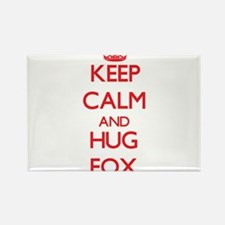 Keep calm and Hug Fox Magnets