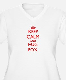 Keep calm and Hug Fox Plus Size T-Shirt